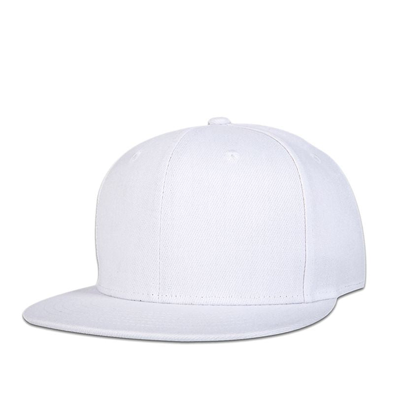 Flat Brim Hats Women Blank Stylish Baseball Caps for Men Gorras Planas Hip Hop Hats Full Cap Hats Baseball White YIC087