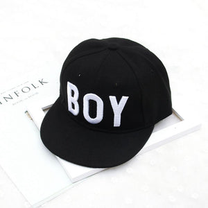 Kids Baseball Cap Straig Brim Full Snapback Cap for Boys Gorras Planas Hip Hop Cap Youth Black Cap YIC628