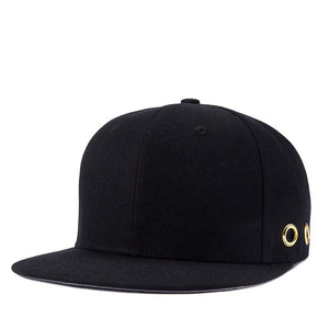Kpop Men Hoops Hip Hop Hats Brim Straig Man Bones Gorras Planas Snapback Black Cap Youth Full Cap Hat Baseball YIC047