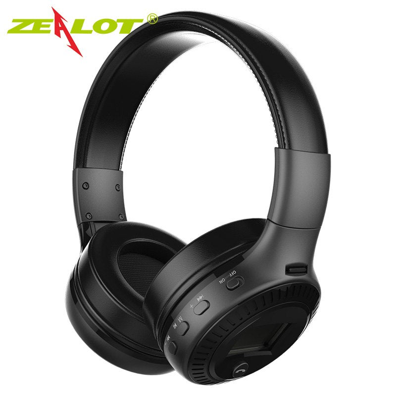 B19 Headphone LCD Display HiFi Bass Stereo Earphone Bluetooth Wireless Headset With Mic FM Radio TF Card Slot Headphones