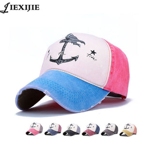 fashion couple  pirate anchor hat men caps bone baseball cap for man cot printing hip hop male cap Russia style Women's hats