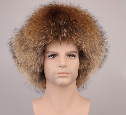 fur hats for men bomber hat leifeng hat autu winter natural raccoon/fox fur and leather surface man earflap hat H203