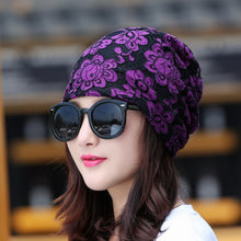 Load image into Gallery viewer, girl beauty beanie designer customized novelty winter hats for women bling crystal pattern casual skullies hat woman brand gorro