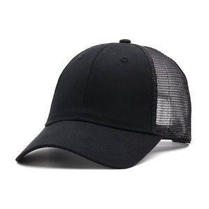 6d63c0be19055 high quality Black Baseball Cap with Mesh Brand Snapback Hat Trucker Cap  Pure color Baseball Caps