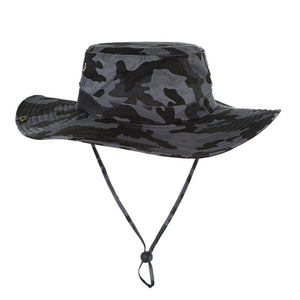 hot Women Men Outdoor Fishing Sun Hat Mesh Bucket Hat Summer Hiking Cap  Wide Brim UV 97d445df5e2