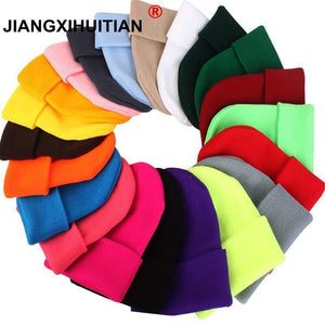 Warm Knitted Hat Women Winter Hat Cap For Women Skullies Beanies Warm Winter Cap Men Brand Beanie Hat Wholesale