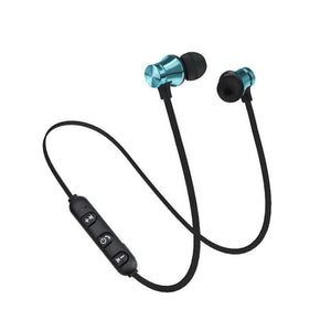 Magnetic Earphone Bluetooth 4.2 Headset Sports Waterproof with Build-in Mic Charging Cable Earphone for iPhone X Samsung
