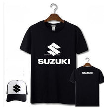 Load image into Gallery viewer, man woman 4S shop printed short-sleeved suzuki t-shirt short sleeve dress black customizable T shirt inlude service baseball cap