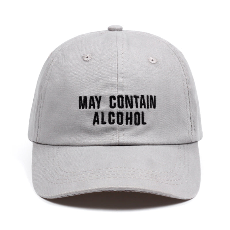 may contain alcoh Dad Hat Embroidery Cot Baseball Caps Unisex Buzzword Snapback Hat Brand Hats For Men Women Bone Casquette