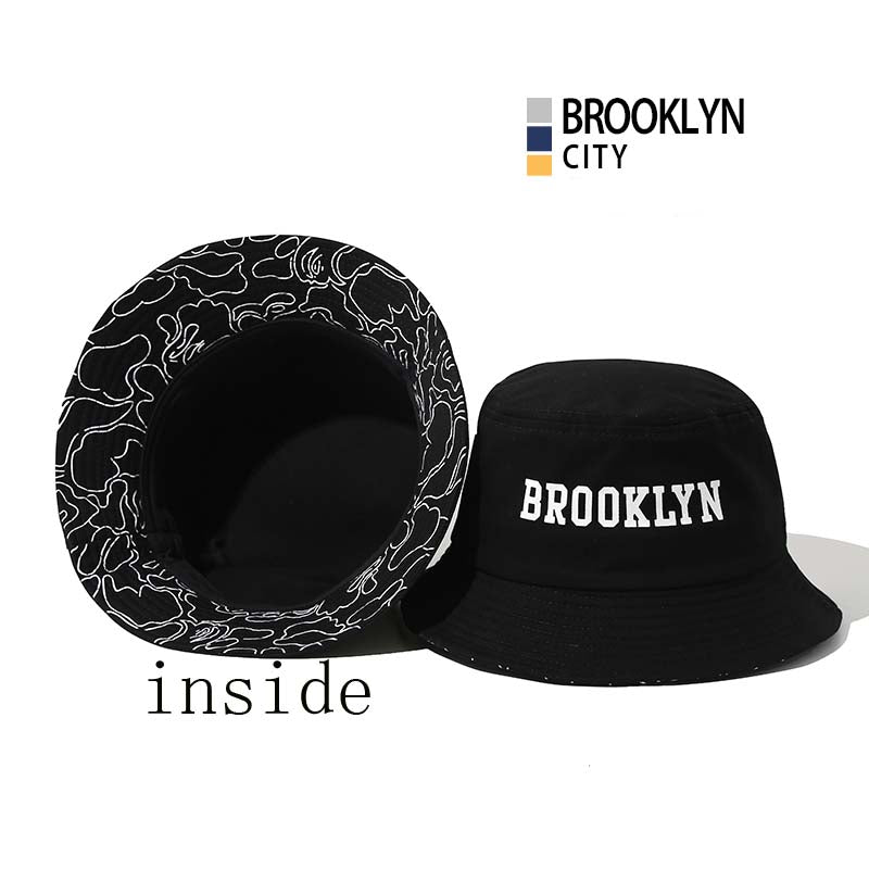 cb07df35747 men s Panama Bucket Hats ring Patch banana letter boonie Japanese ...