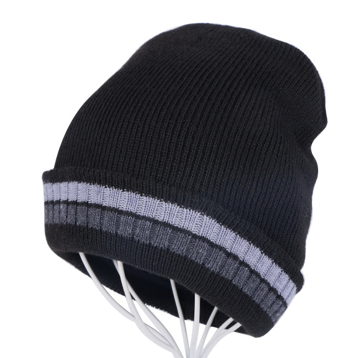 men women cheap winter beanies skullies gorros thermal warmer winter hats two layer keep warmer knitted unisex  winter hats