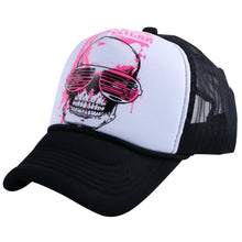 Load image into Gallery viewer, men women novetly summer baseball cap sunshade style hats print SKULL head pattern mesh co hip hop unisex casquette gorras