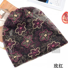 Load image into Gallery viewer, Fashion Summer Thin Women Hat Floral Casual Adult Ladies Caps Cheap Beauty Bonnet Polyester Female Beanies Skulliess