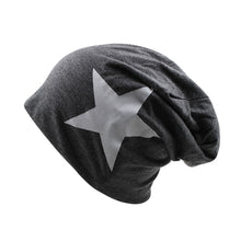 Load image into Gallery viewer, Hot Sale Women Hat Fashion Female Adult Caps For Girls Stars Beanies Polyester Black 5 Colors Cotton Skulliess Cheap