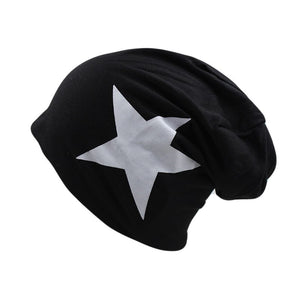 Hot Sale Women Hat Fashion Female Adult Caps For Girls Stars Beanies Polyester Black 5 Colors Cotton Skulliess Cheap