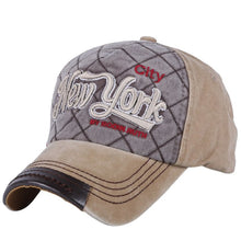 Load image into Gallery viewer, new vintage style hats for men women's casual baseball cap  GOOD QUALITY embroidery letter with plaids pattern cotton caps