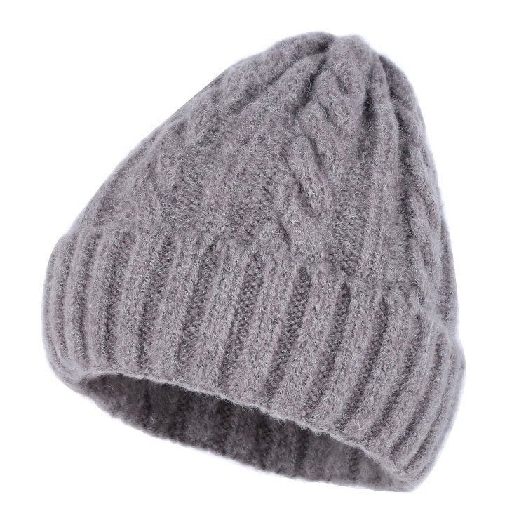 new wo braided beanies for women woman girl cashmere winter hat ... 7ac70fd4a77