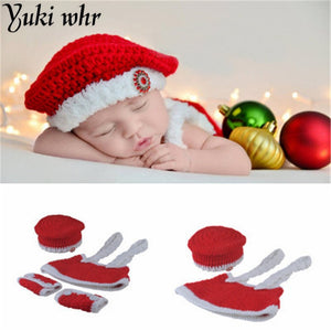 newborn baby photography photo Santa Claus handmade crochet knit hat accessories cute charming clothing hat & strap skirt &