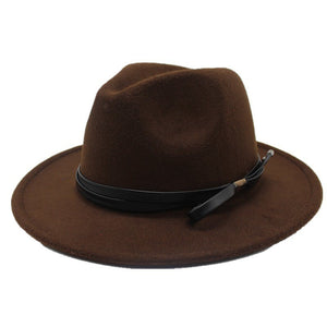 Brand Winter Autumn Imitation Woolen Women Men Ladies Fedoras Top Jazz Hat European American Round Caps Bowler Hats