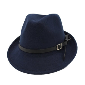 Free Shipping men Fedoras Women's Fashion Jazz hat Summer Spring Black Woolen Cap Outdoor Casual Dancing Hat