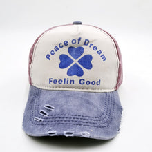 Load image into Gallery viewer, peace of dr feelin good Baseball Cap Clover Cap Snapback Hats Caps  For Men Women Adjustable Adult Cap