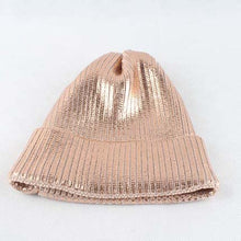 Load image into Gallery viewer, pink metallic print Beanies women winter hats casual hip hop Cap skullies hat for men beanie