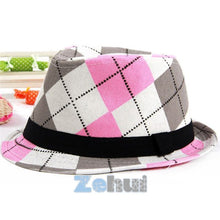 Load image into Gallery viewer, Fashion Kids Baby Fedora Hats Jazz Cool Toddler Boy Girl Cap Photography Top Hat Cotton Trilby