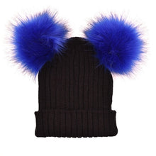 Load image into Gallery viewer, New 2018 Winter Women Mink and Fox Fur Ball Cap Pom Hat for Girl Hat Knitted Beanies Caps New Thick Female Hats W13