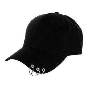 Unisex  Adjustable Cap Dance Show Hats With Rings Hip Hop Baseball Snap Back Cap