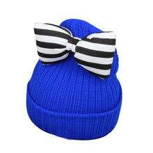 Load image into Gallery viewer, Cute Baby Girl Hat Butterfly-Knot Kids Woolen Warm Crochet Hat Kawaii Baby Winter Hat Girls