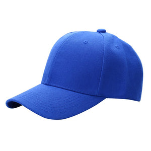 Men Women Plain Baseball Cap Unisex Curved Visor Hat Hip-Hop Adjustable Peaked Hat Visor Caps Solid Color P1