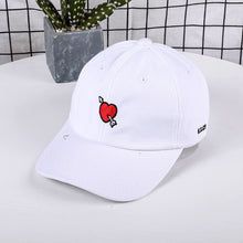 Load image into Gallery viewer, at Cap Men Casual Red Love Heart Printed Baseball Cap Snapback Hats For Female Cotton Dad Hat Hip Hop Bone Drop Shipping