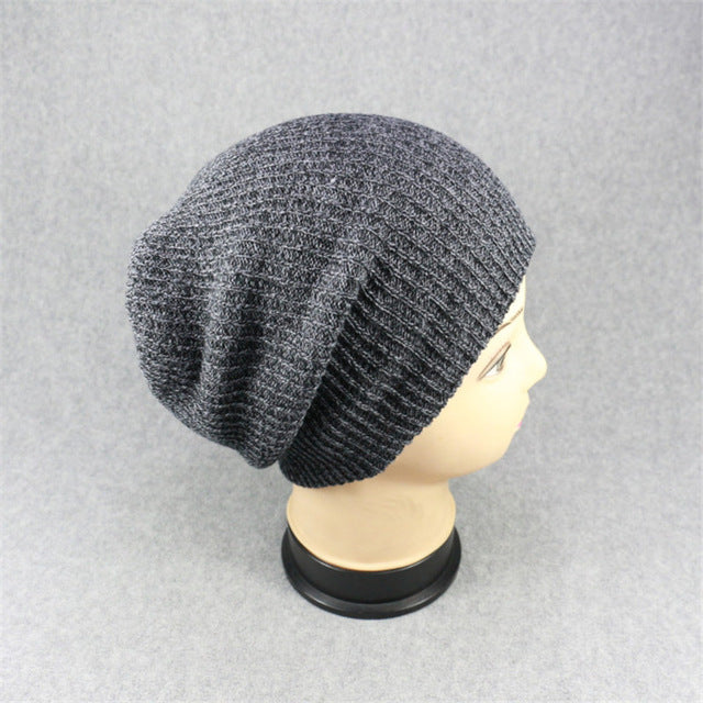 Unisex Men's Women's Knit Oversize Baggy Slouchy Beanie Warm Winter Hat Chic Cap Skull Fresh Fashion For Wholesale 3Colors
