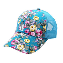 Load image into Gallery viewer, Summer Women Female Floral Hat Baseball Cap Mesh Cool Cap Sports Leisure Sun Visor Sun Hat Snapback Cap 6 Colors P1