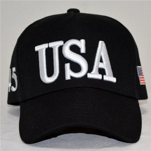 Summer fashion American Flag Embroidered Print Hat with Travel Baseball Cap Hat Strap Hip Hop Cap