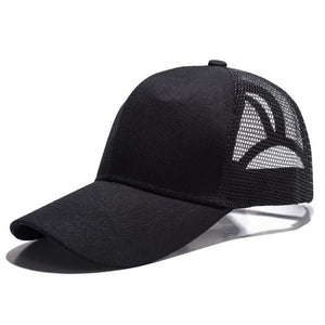 Ponytail Baseball Cap Women Messy Bun Baseball Hat Snapback Sun Sport Caps Adjustable Sport Caps Drop Shipping
