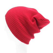 Load image into Gallery viewer, Solid Color Hats Women's Winter Hat Knitted Beanie Female Fashion Skullies Casual Outdoor Mask Ski Caps Thick Warm Hats