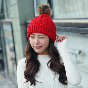 Women's Mom&Baby Matching Hat Kids Winter Warm Beanie Cotton Knitted Kids Children Mommy Headwear Hat Caps Crochet Beanie