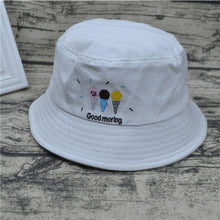 Load image into Gallery viewer, Summer Fashion Letter Embroidery Cigarette Double Side Hats Vintage Canvas Fisherman Hat Women Girls Couple Sunhat Cap Hip Hop P