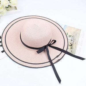 Brim Sun Women Casual Hat Big Hat Foldable Beach Straw Protection Wide