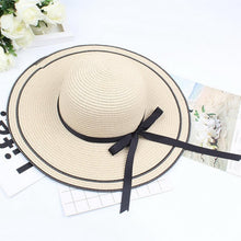 Load image into Gallery viewer, Brim Sun Women Casual Hat Big Hat Foldable Beach Straw Protection Wide