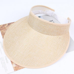 Sun Elastic Plain Unisex Fashion Adjustable Hat Solid Visor
