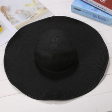 Load image into Gallery viewer, Sun Straw Fashion Weave Sun Cap Solid Women Hat Rope Hat Elastic