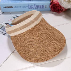 Sun Patchwork Bow Cap Straw Sun Women Fashion Hat Hat Weave