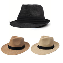Load image into Gallery viewer, Hat Jazz Beach Style Floppy Unisex Cap Sun Straw Sun Fashion