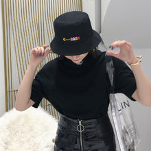 Load image into Gallery viewer, Summer Hat Women Mens Panama Bucket Hat Smile Face Design Flat Sun Visor Fishing Fisherman Bob Hat Chapeu Femmes