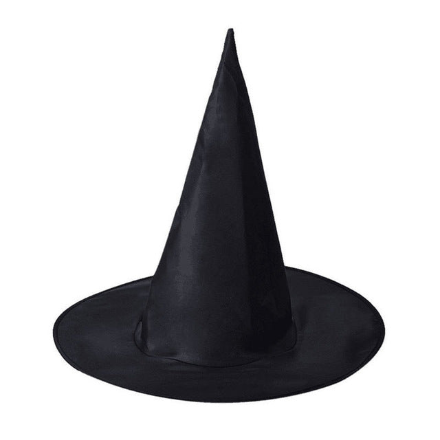 2018 New Adult Womens Men Black Witch Hat For Halloween Hat Props Costume Halloween Party Pointed Hats Party Accessory