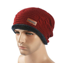 Load image into Gallery viewer, Men Winter Cap Set Of Head Cap Man Keep Warm Hats Brand Man Tall Outside Hats Knit Hats