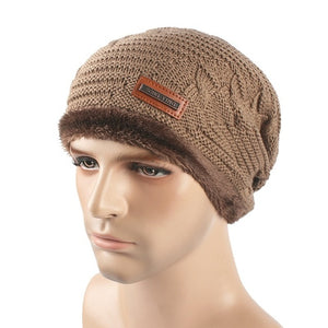 Men Winter Cap Set Of Head Cap Man Keep Warm Hats Brand Man Tall Outside Hats Knit Hats