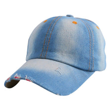 Load image into Gallery viewer, promotion women girl cheap denim baseball cap solid colorful cot casual brand strapback hats hip hop snapback casquette gorra